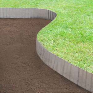 Curved Galvanised Lawn Edging