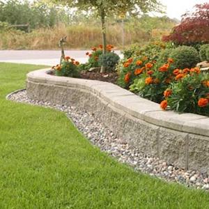 Curved Stone Garden Border