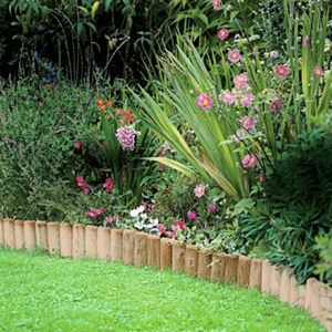 Log Roll Garden Border