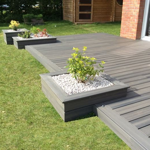 Decking With Garden Boxes
