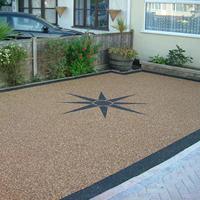 Resin Driveway Star Compass